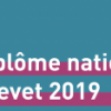 Quelles sont les deux disciplines choisies pour l'épreuve écrite de sciences du DNB session 2019 ?