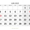 Organisation du mois de juin 2019 au collège