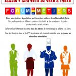 affiche forum des métiers 2018